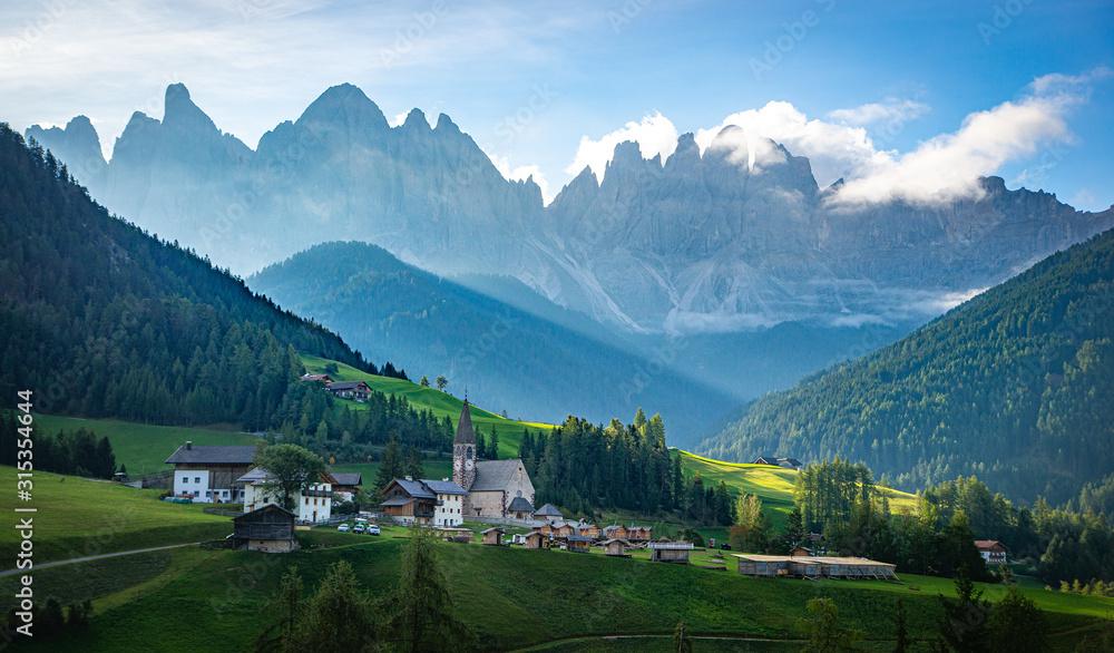 Fototapeta village in mountains