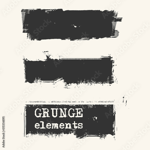 Obraz Abstract grunge stamp element set on white background. - fototapety do salonu