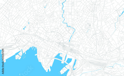 Photo Oslo, Norway bright vector map