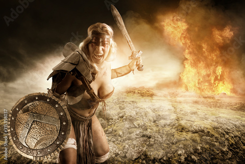 Foto woman gladiator/Ancient warrior