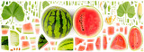 Watermelon Slice and Leaf Collection