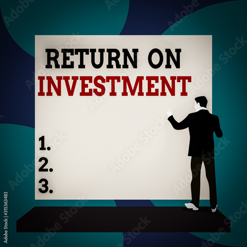 Conceptual hand writing showing Return On Investment Canvas Print