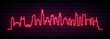 Red neon skyline of Chicago city. Bright Chicago long banner. Vector illustration.