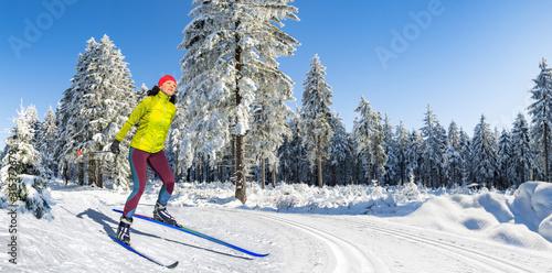 langlauf or cross-country skiing