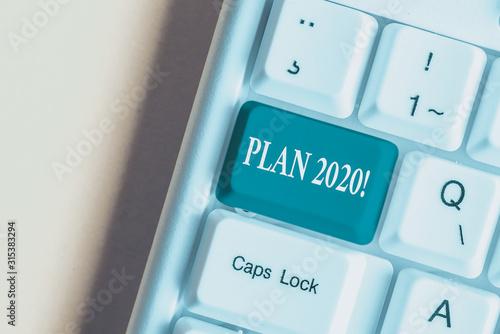 Handwriting text Plan 2020 Canvas Print