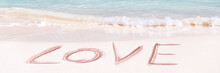 Love Written On The White Sand...