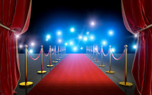VIP Entrance With Red Carpet A...
