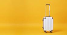 White Luggage Bag Isolated On ...