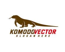 Komodo Dragon Logo Design Temp...