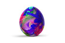 Easter Egg Isolated On White B...