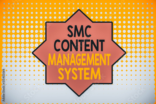 Writing note showing Smc Content Management System Canvas Print