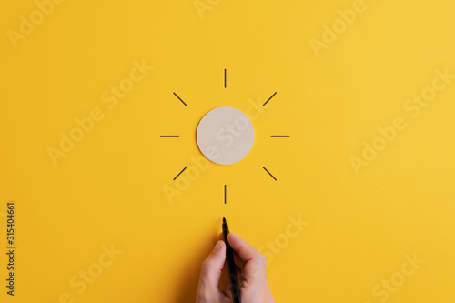 Conceptual image of positivity and optimism - 315404661