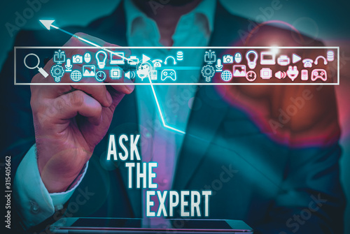 Writing note showing Ask The Expert Canvas Print