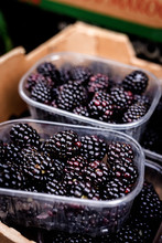 Street Market Of Assortment Of Fresh Fruits And Vegetables.Healthy Food.Organic. Farming. Blackberries