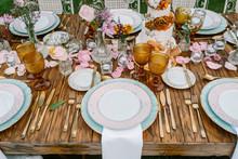 Wedding Table Decoration In Ru...