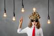 Bright new business idea concept.