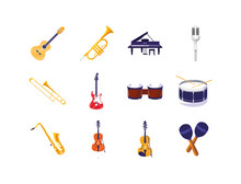 Isolated Music Instruments Ico...