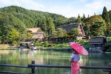 Japan, Takayama, Young Woman A...