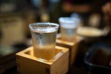 Japan, Takayama, Sake Served I...