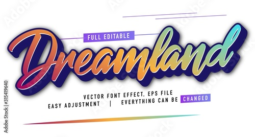 Fotomural elegant and colorful text effect design, full editable vector, easy to adjust to
