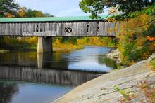 Old New England Covered Bridge...
