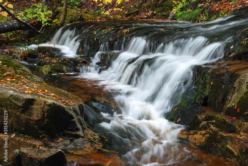 New England cascaiding waterfall