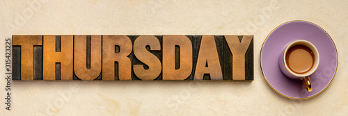 Photo Thursday word typography