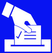 Leinwanddruck Bild - à voter