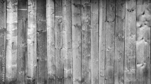 Textura de pranchas de madeira cinza rústica envelhecida e deteriorada na vertical Canvas Print