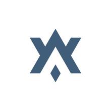 AV VA A V Initial Based Letter Icon Geometric Logo. Technology Business Identity Concept. Creative Corporate Template. Stock Vector Illustration Isolated On White Background.