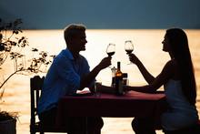 Happy Couple On Summer Evening...