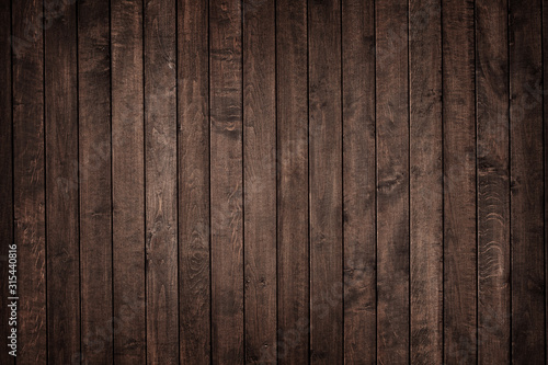Textura de pranchas de madeira escura rústica envelhecida na vertical Canvas Print