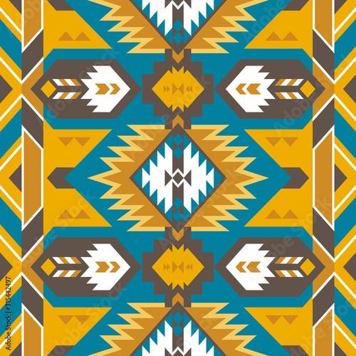 Fotografia Aztec, Navajo geometric seamless pattern