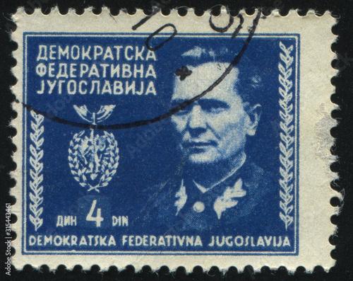 Tela  portrait of marshal Tito