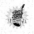 Rock and Roll Live Music Starburst Vector illustration