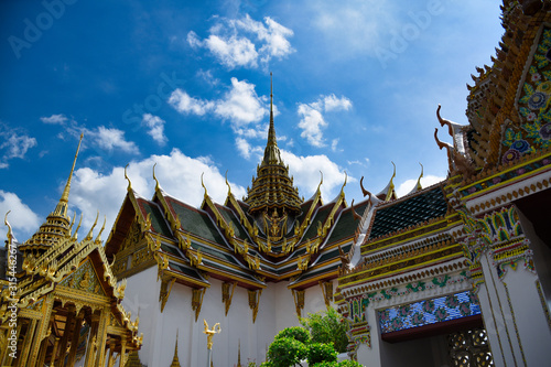 Characteristics of traditional Thai architecture Canvas Print