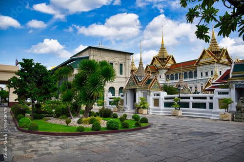 Photo  Characteristics of traditional Thai architecture