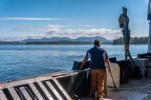 Single Fisherman Is Standing O...