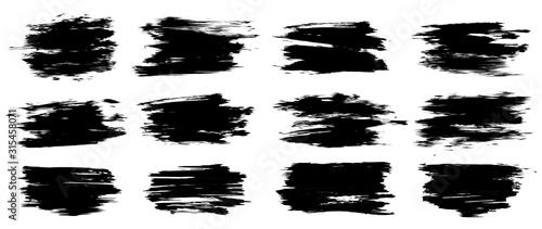 Fototapeta Set of thick brush strokes