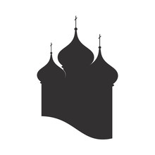 Domes  Orthodox Church. Christian Temple Silhouette