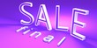 canvas print picture - 3d render of final SALE sign in pink and violet colour.