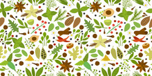 Herbs And Spices Background, S...