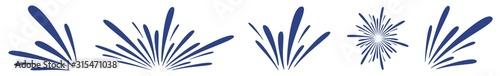 Photo Water Splash Icon Blue | Splashes | Droplets Symbol | Splashing Logo | Liquid Mo