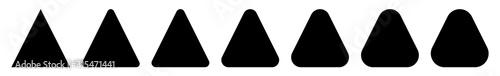 Triangle Icon Black Rounded | Label Triangles | Frame Logo | Emblem | Traffic Si Tapéta, Fotótapéta