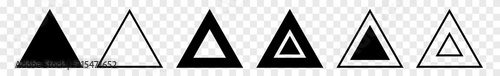 Fotografie, Obraz Triangle Icon Black | Label Triangles | Frame Logo | Emblem | Traffic Sign | Roa