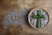 Lent Word Written In Ash, Dust...