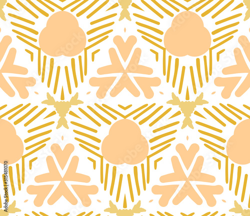 Abstract geometric seamless pattern. Tile background. Infinity wrapping paper with different shapes. Creative texture. Vector illustration.