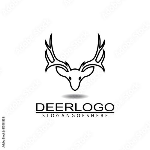 Fototapeta Deer head icon logo design vector illustration obraz