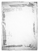Old Ripped Torn Posters Textures Backgrounds Grunge Creased Crumpled Paper Vintage Collage Placards Empty Space Text Frame