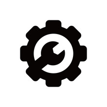 Mechanical Gear Icon With Wren...